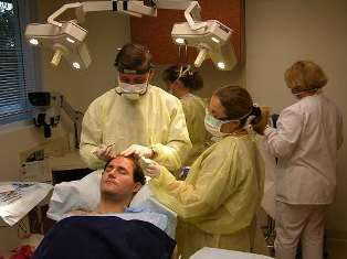 Dr. Nusbaum utilizes a large staff to enable large sessions