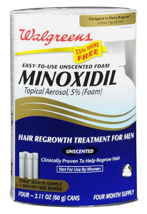 Minoxidil foam or liquid